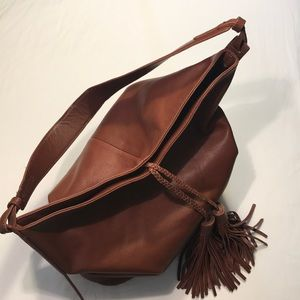 MARGOT Brown Leather Purse Large